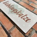 Blechschild - LIEBLINGSKATZE - Wandschild im Vintage Look