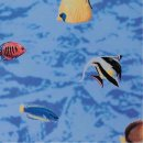 Fensterfolie Fische Adhesive - Klebefilm Buntglas Look...
