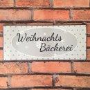 Blechschild - WEIHNACHTSBÄCKEREI - Wandschild im...