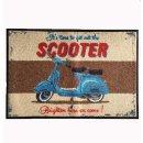 Waschbare Fussmatte - Scooter - Roller - Martin Wiscombe...