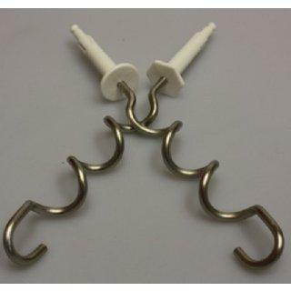 Braun Original Knethaken-Set weiß für alle Braun Handrührgeräte Multimix - Nr.: 67051156