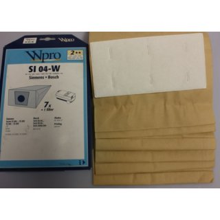Wpro SI04-W Staubsaugerbeutel für Siemens VS800-VS909 Bosch BS84, BS85 - Nr.:481281728129
