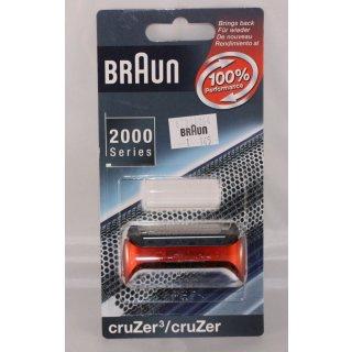 Braun Scherfolie, Scheerblatt, Scherfolienrahmen cruZer Z40 Series1 rot - 67091064