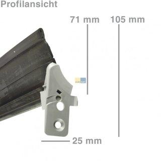 Türdichtung unten mit Befestigungsschiene für Spülmaschine Balay Bosch Siemens Neff - Nr.: 298534