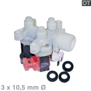 AEG-Electrolux Original Magnetventil 3-Fach, 90° gewinkelt - Nr.: 407136019