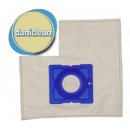 daniclean© dc006 / 50 Vlies Staubsaugerbeutel passend für Daewoo Größe 50, AEG SMART 300 - 399, Progress, Dirt Devil