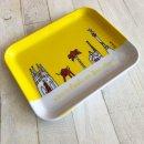 1 Frühstücksteller - Barcelona gelb - Tablett ca 19 x 15 cm