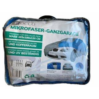 Microfaser Ganzgarage, Autogarage, Auto Vollgarage, Autoplane, blau grau 485x180x120cm