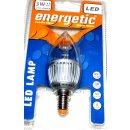 Energetic LED Lampe E14, Kerzenform, klar, Warmweiß...