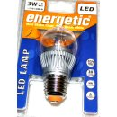 Energetic LED Lampe 3W High-Power E27 Glühlampe...