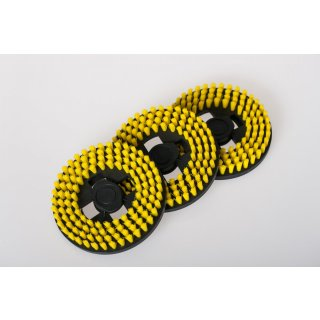 daniplus© gelbe Polierscheibe Z18 passend für Hoover F38PQ Bohnermaschine - Nr.: 35600708