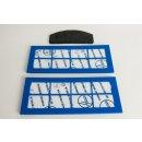 Hoover Filterset, Filter-Set U6 mit Abluftfilter 2 Stück, Aktivkohlefilter Nr.: 09181827