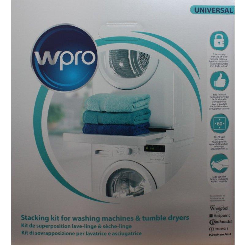 wpro verbindungsrahmen f r waschmaschine trockner mit ablage sks101 63 99. Black Bedroom Furniture Sets. Home Design Ideas