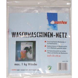 Santex Wäschenetz, Waschmaschinen Netz für Feinwäsche, Unterwäsche, BH, Dessous mit Reißverschluss 25 x 45 cm für 1 Kg.