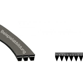 daniplus© Riemen, Poly-V-Riemen 1252J5 EL passend für Bosch Siemens 439491, 354131