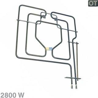 Bosch Siemens Heizelement, Heizung Oberhitze 2800W für Backofen, Herd - Nr.: 208489